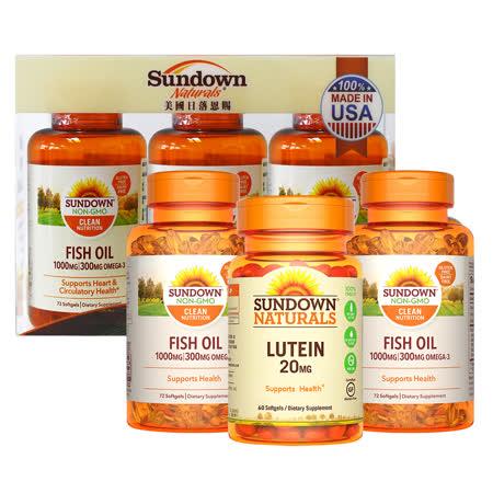 【美國Sundown】 高單位魚油+葉黃素禮盒