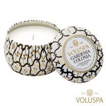 美國 VOLUSPA 白屋系列 Gardenia Colonia 梔子花園 香氛禮盒 錫盒 113g