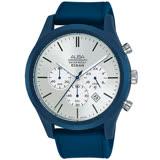 ALBA雅柏 街頭時尚三眼計時手錶-44mm/藍x銀(VD53-X347B/AT3G29X1)
