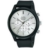 ALBA雅柏 街頭時尚三眼計時手錶-44mm/黑x銀(VD53-X347Z/AT3G23X1)