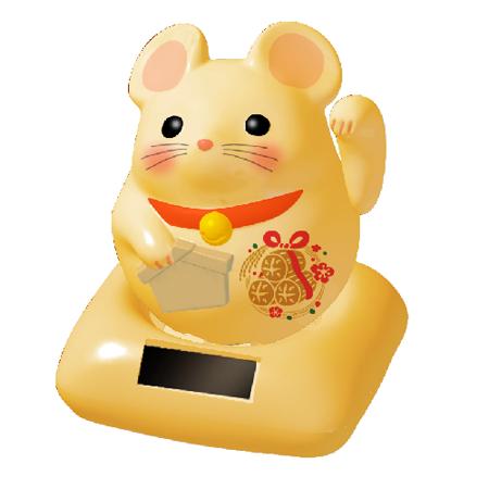 【鼠年】招財貓金鼠
