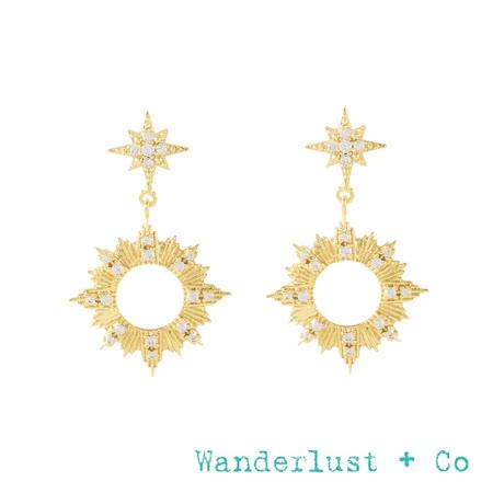 Wanderlust + Co 絢陽小星星鏤空耳環