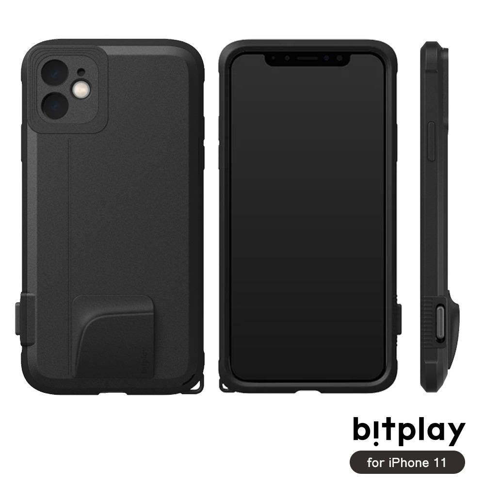 bitplay SNAP! iPhone 11 (6.1吋)專用 喀擦一鍵即拍相機快門鍵全包覆軍規防摔相機殼 ▲Black黑