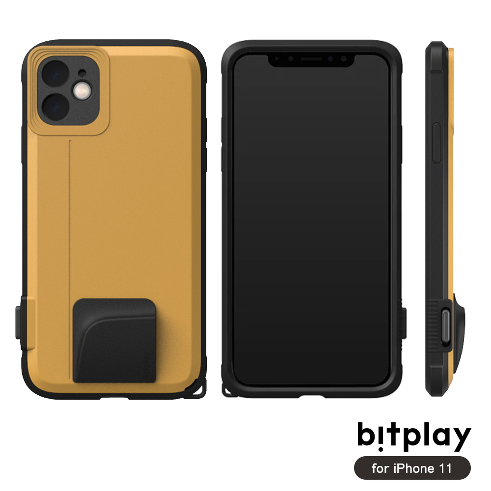 bitplay SNAP! iPhone 11 (6.1吋)專用 喀擦一鍵即拍相機快門鍵全包覆軍規防摔相機殼 ▲Yellow黃
