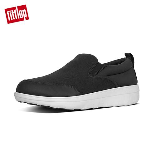 【FitFlop】LOAFF SKATE IN CANVAS / NEOPRENE 輕量舒適休閒鞋 黑色