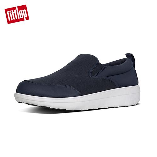 【FitFlop】LOAFF SKATE IN CANVAS / NEOPRENE 輕量舒適休閒鞋 午夜藍