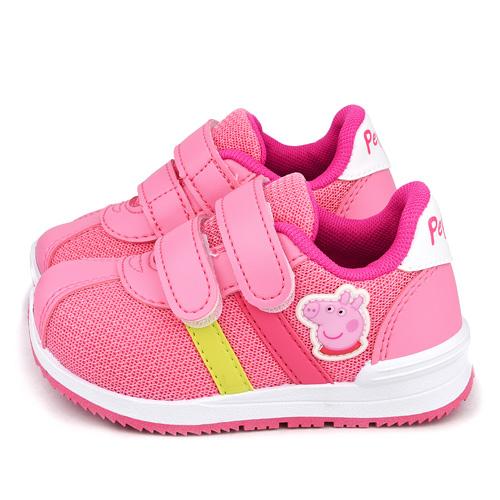 童鞋城堡-粉紅豬小妹 佩佩豬 中童 簡約透氣運動鞋PG8557-粉