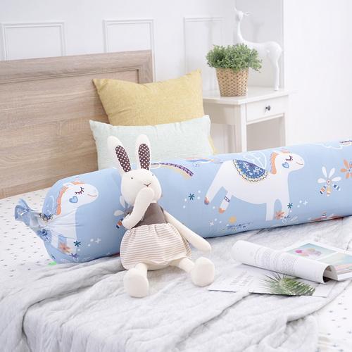 IN HOUSE-快樂獨角獸糖果長抱枕(藍)