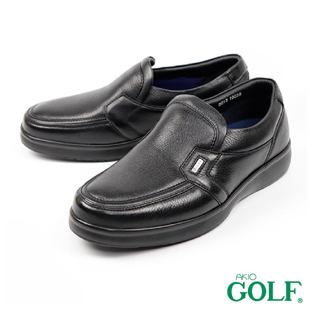 【GOLF】日本4E寬楦手工氣墊休閒鹿皮鞋 黑色(GF5013-BL)