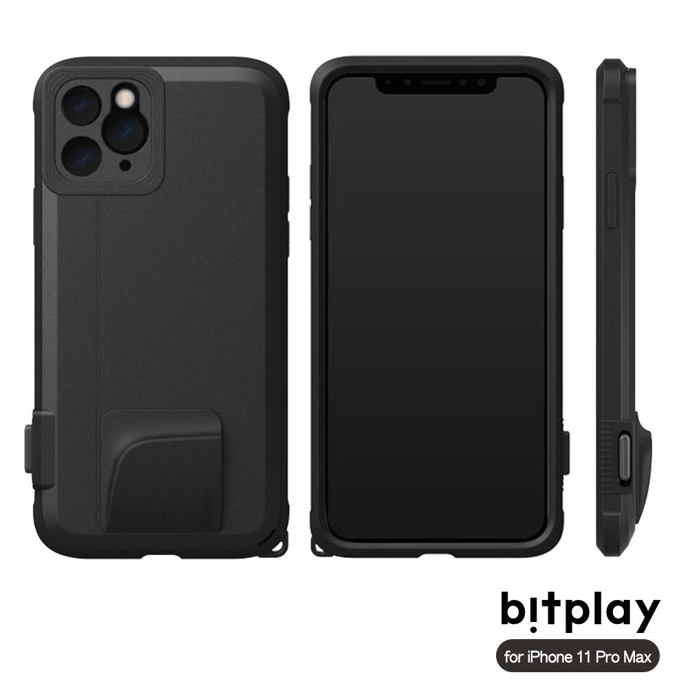 bitplay SNAP! iPhone 11 Pro Max (6.5吋)專用 喀擦一鍵即拍相機快門鍵全包覆軍規防摔相機殼 ▲Black黑