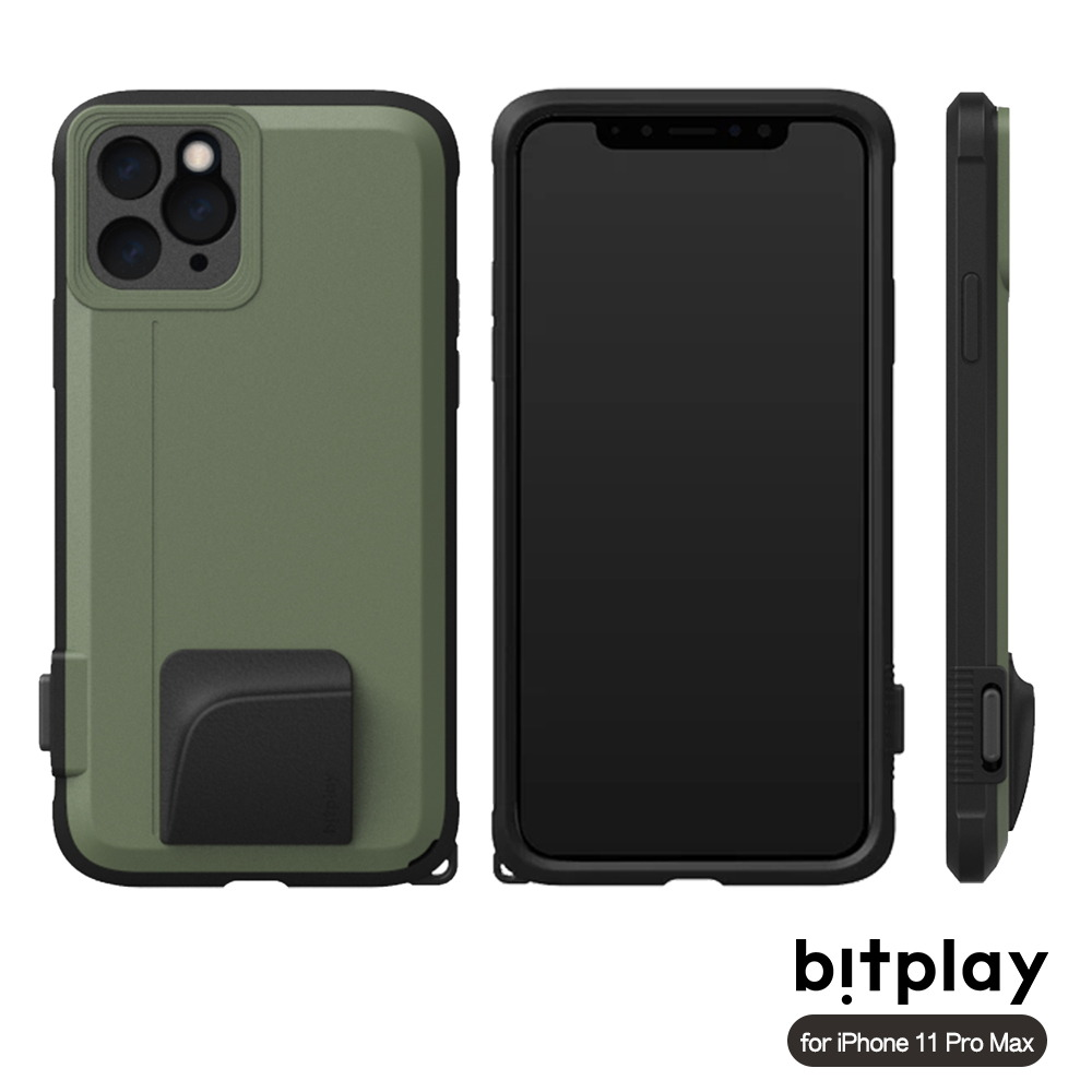 bitplay SNAP! iPhone 11 Pro Max (6.5吋)專用 喀擦一鍵即拍相機快門鍵全包覆軍規防摔相機殼 ▲Green綠