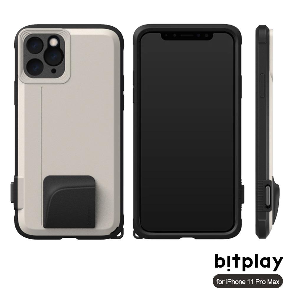 bitplay SNAP! iPhone 11 Pro Max (6.5吋)專用 喀擦一鍵即拍相機快門鍵全包覆軍規防摔相機殼 ▲Sand沙