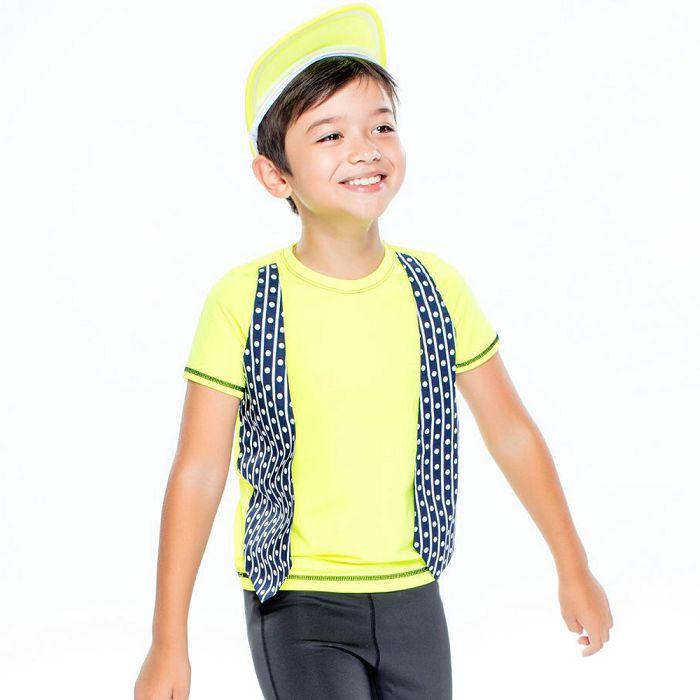 【HOII后益官方授權】小紳士背心圓領T-兒童-黃