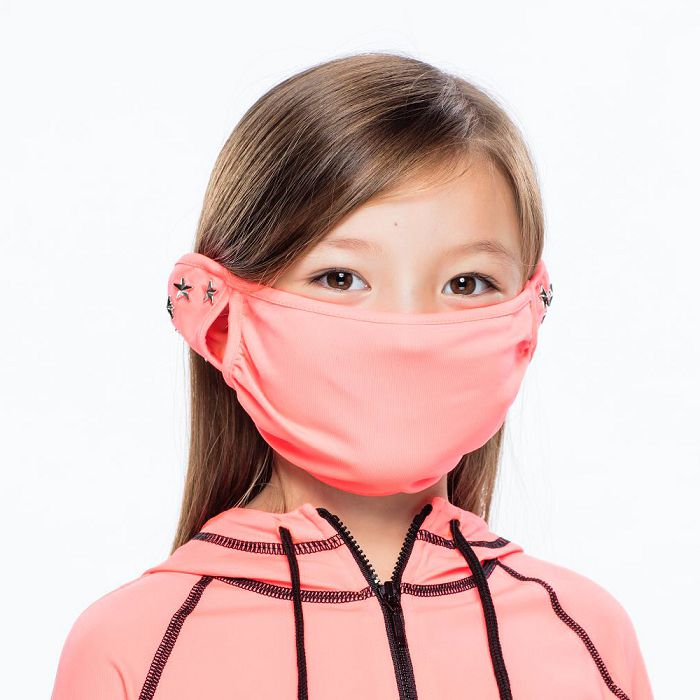 【HOII后益官方授權】星星鉚釘美膚口罩-兒童-紅
