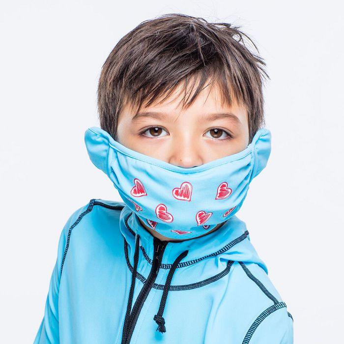 【HOII后益官方授權】心型美膚口罩-兒童-藍
