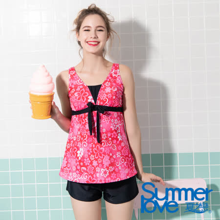 夏之戀SUMMERLOVE  大女長版三件式泳衣