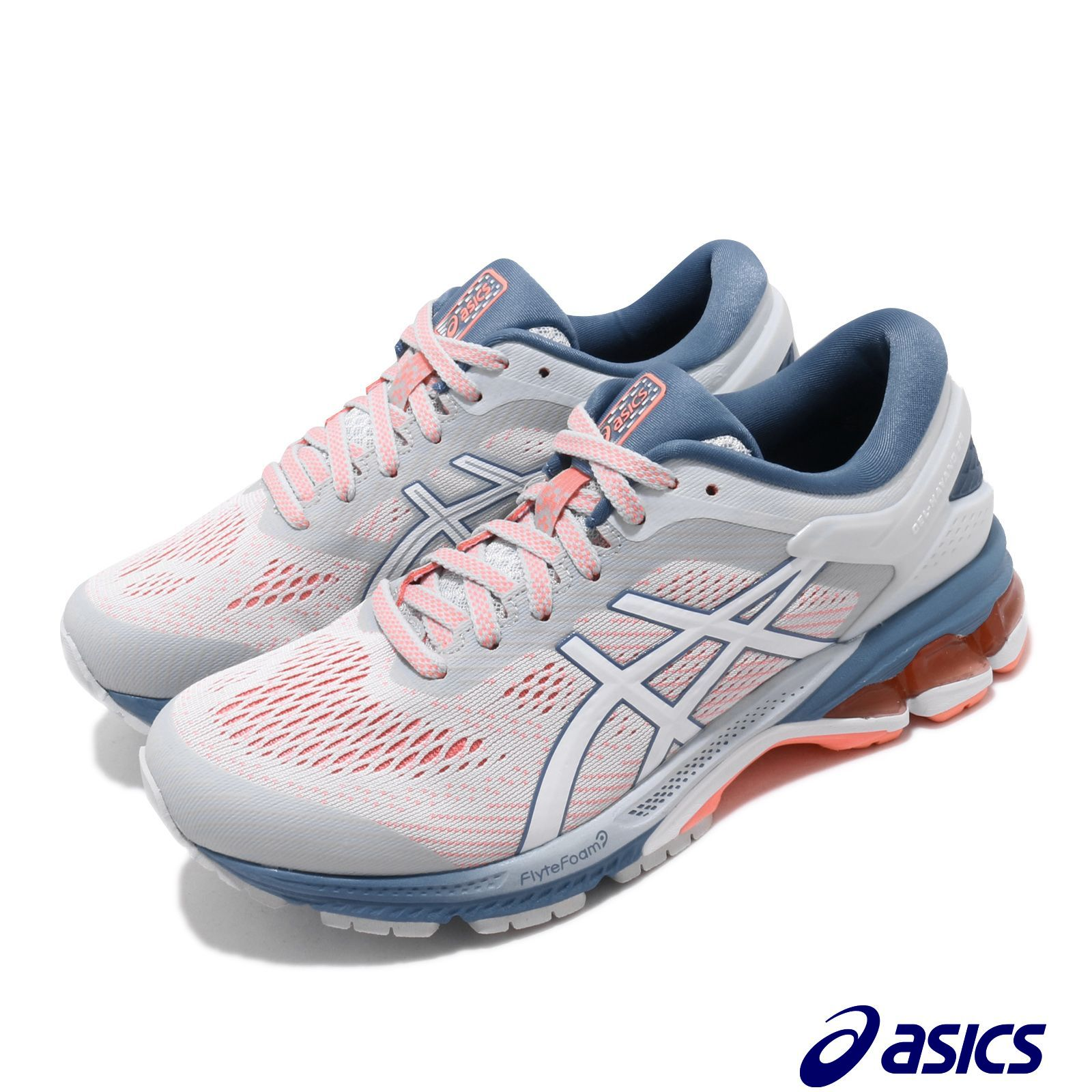 Asics 慢跑鞋 Gel-Kayano 26 D 寬楦 女鞋 1012A459021