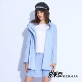 【KERAIA 克萊亞】空氣感立體領休閒長版風衣外套