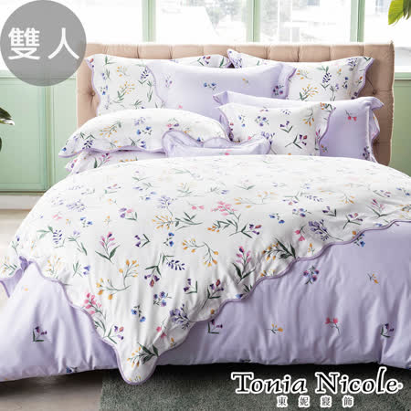 東妮寢飾-花舞繽紛 長纖細棉被套床包組