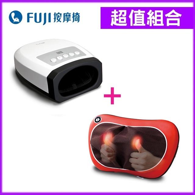 【組合】FUJI摩術師手部按摩器FE-520+FUJI溫揉按摩枕FG-178
