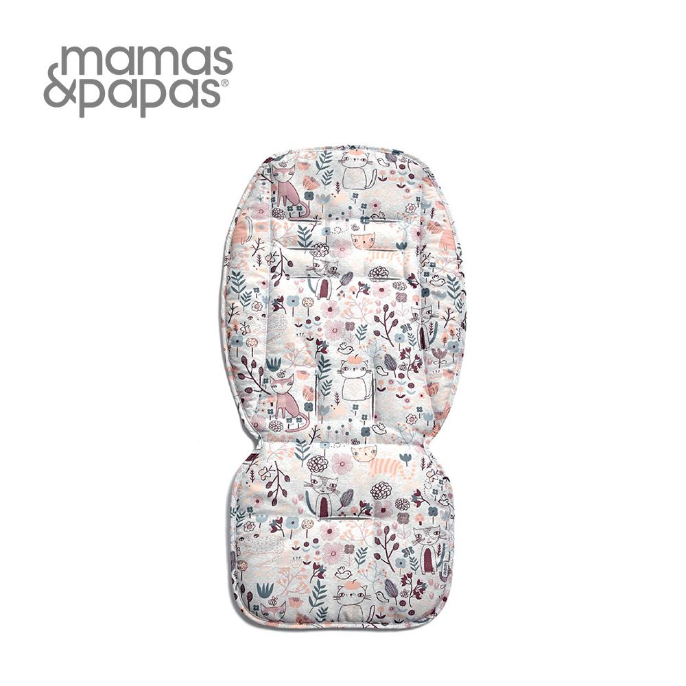 【Mamas & Papas】通用雙面推車座墊-彩繪貓咪