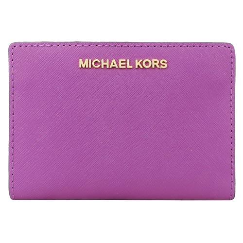 MICHAEL KORS JET SET 防刮卡片零錢短夾-紫