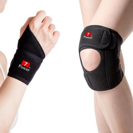 【7Power】醫療級 護腕2入+護膝2入超值組