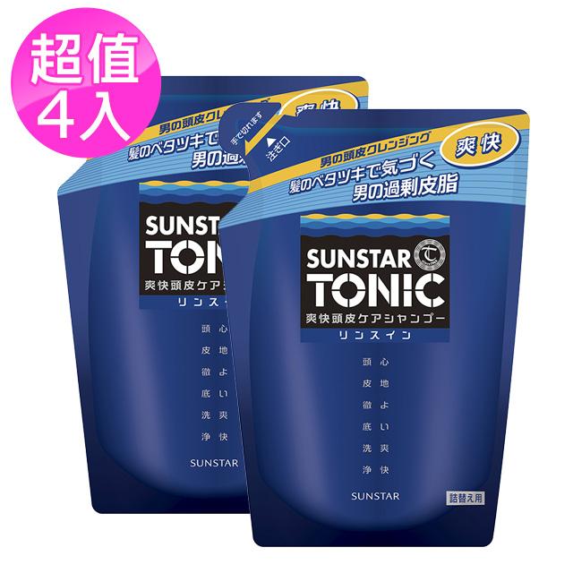 TONIC 爽快頭皮雙效合一洗髮精-雙效 (補充包) 340ml×4