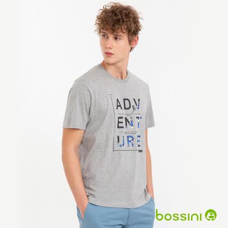 bossini男裝 短袖印花Tee - 05灰色