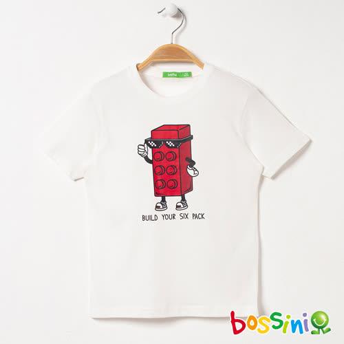 bossini男童-短袖印花Tee - 01白