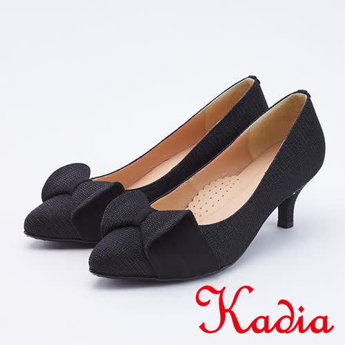 kadia.氣質高雅立體蝴蝶結高跟鞋(9550-95黑色)