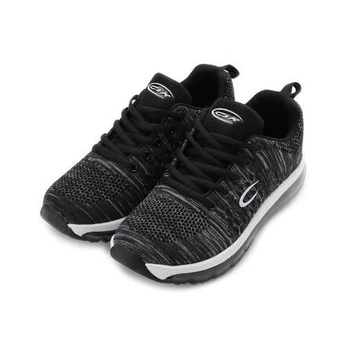 C&K 針織全氣墊跑鞋 黑 女鞋 鞋全家福