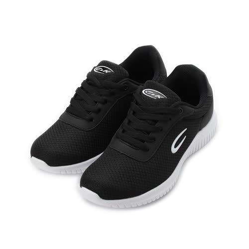 C&K 輕量休閒跑鞋 黑白 女鞋 鞋全家福