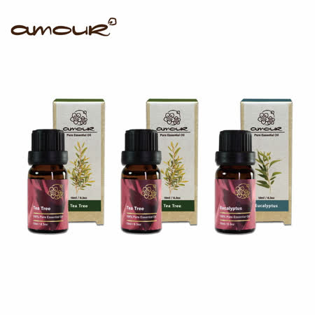 Amour 茶樹精油x2 贈尤加利精油 x1(10ml)