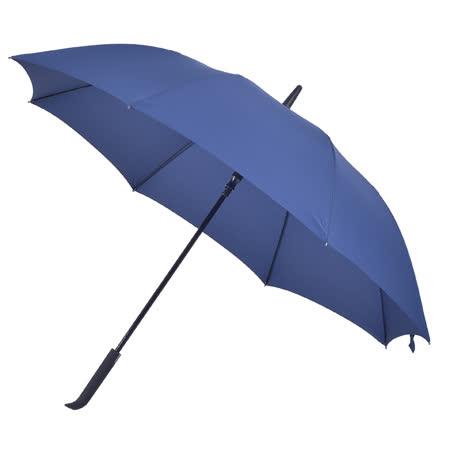 2mm 日系無印風 彎手柄高爾夫防風自動直傘 (深藍)
