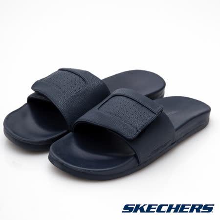 SKECHERS 男 時尚休閒拖鞋