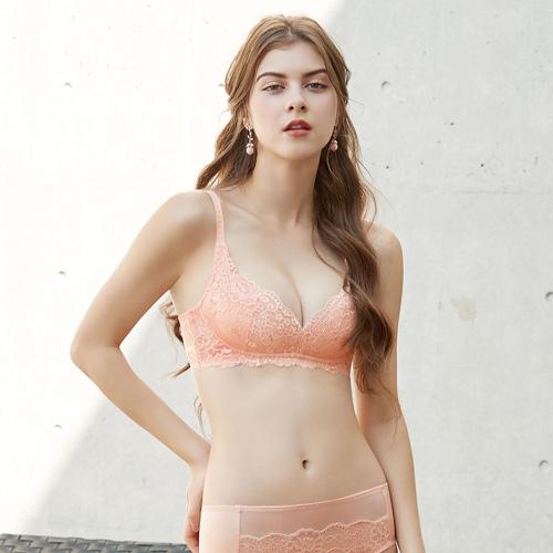 【曼黛瑪璉】包覆提托經典 無鋼圈內衣 C-F罩杯(粉膚橘)