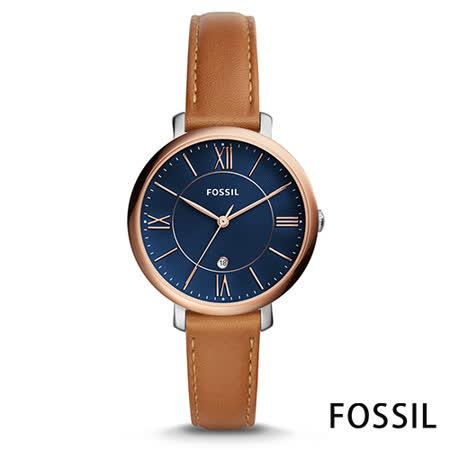 FOSSIL 珍珠流光皮革女錶