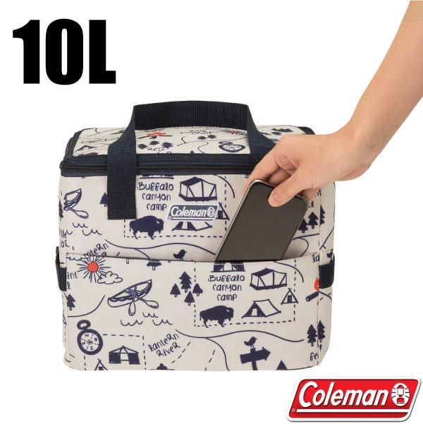 【美國 Coleman】10L露營地圖軟式保冷袋.保冰袋.保溫袋.行動冰桶/CM-33436