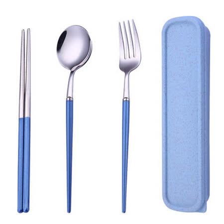 不鏽鋼三件套 環保外出餐具組