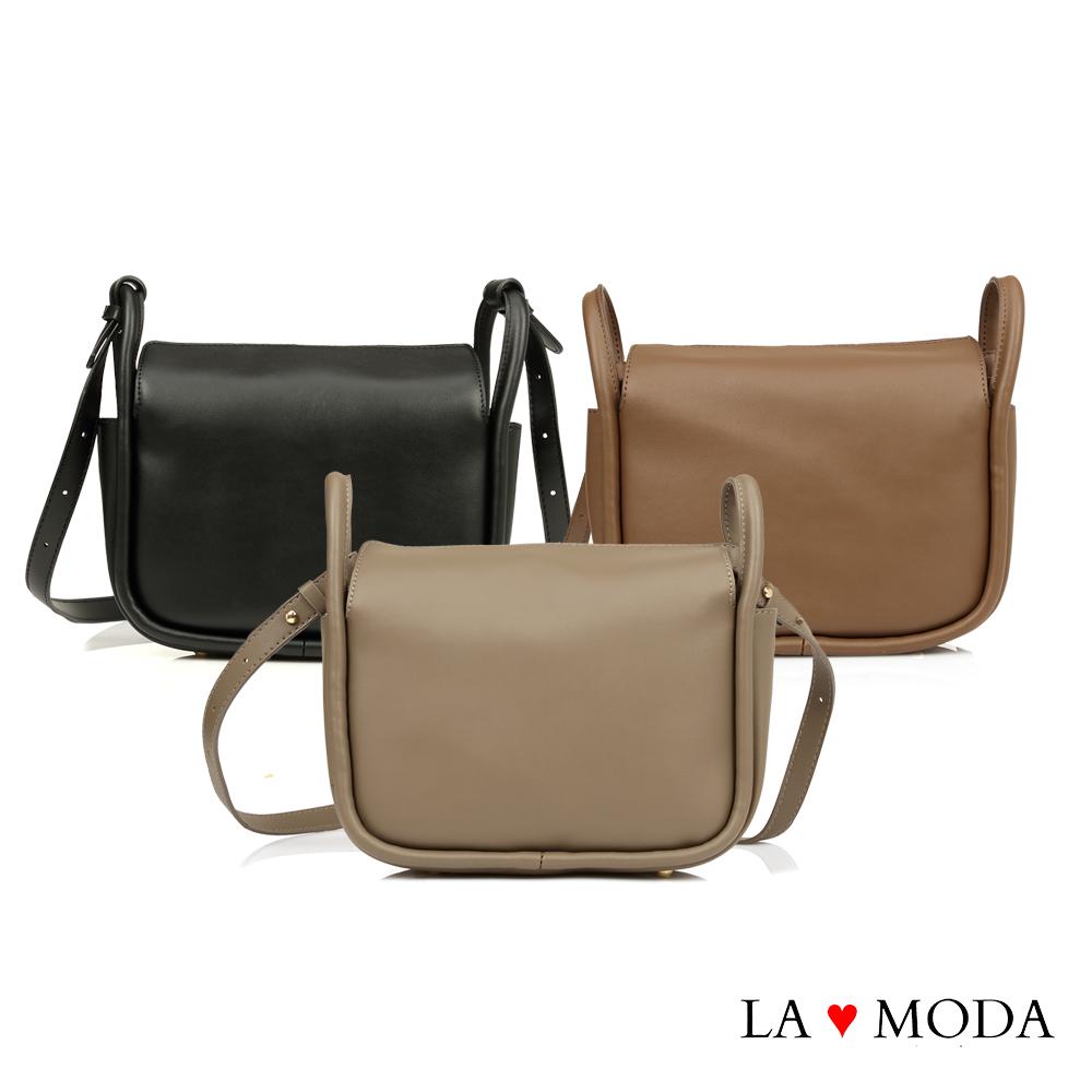 La Moda 質感女孩特色開口設計大容量肩背斜背包(共3色)