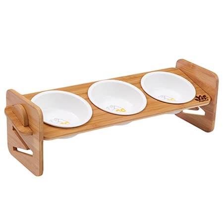 職人木匠 原木可調式斜面寵物餐碗