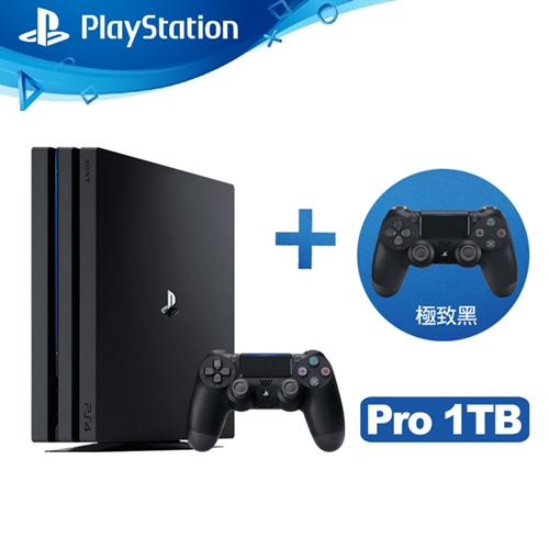 SONY PS4 Pro 1TB 雙手把主機同捆組-極致黑(ASIA-00369)