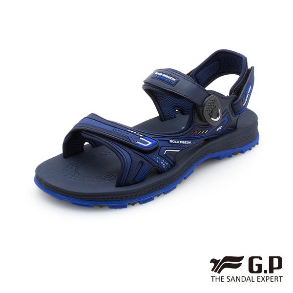 【G.P中性柔軟耐用磁扣兩用涼拖鞋】G0793-藍色 (SIZE:37-44 共三色)