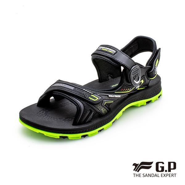 【G.P中性柔軟耐用磁扣兩用涼拖鞋】G0793-綠色 (SIZE:37-44 共三色)