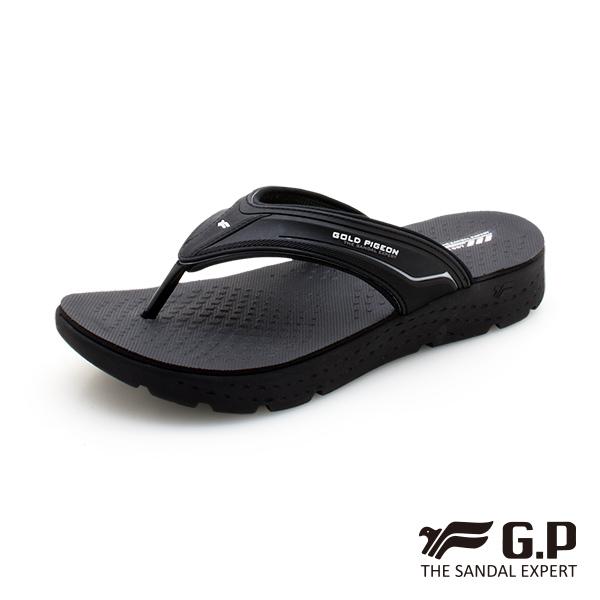 【G.P 男款輕羽量漂浮夾腳拖鞋】G0580M-黑色 (SIZE:40-44 共二色)