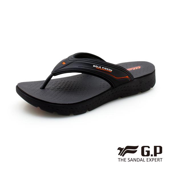 【G.P 男款輕羽量漂浮夾腳拖鞋】G0580M-橘色 (SIZE:40-44 共二色)