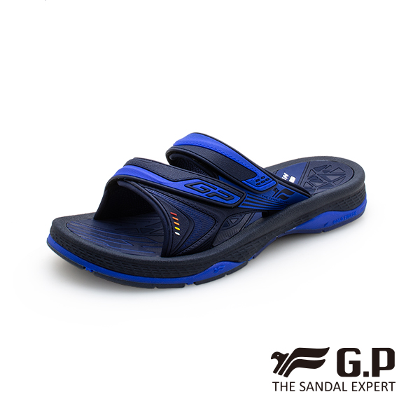 【G.P 男款簡約舒適雙帶拖鞋】G0581M-藍色 (SIZE:39-44 共二色)