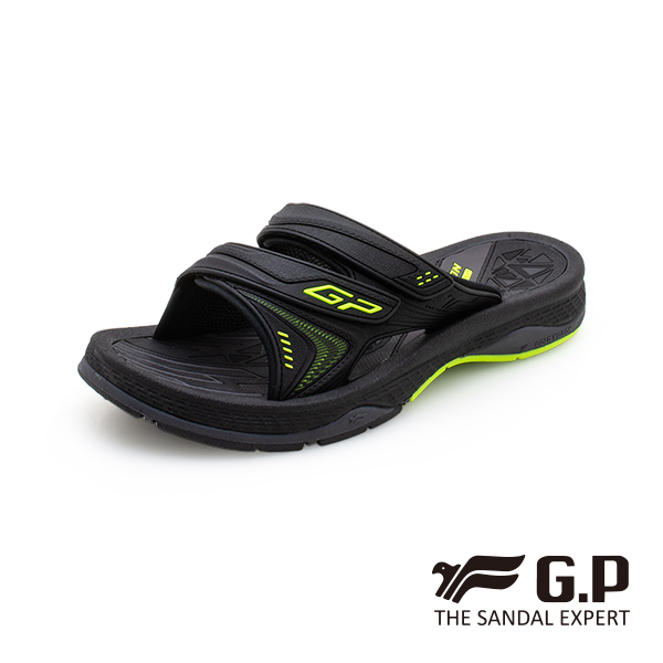 【G.P 男款簡約舒適雙帶拖鞋】G0581M-綠色 (SIZE:39-44 共二色)