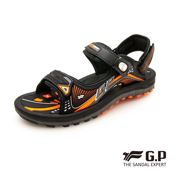 【G.P 雙層舒適緩震磁扣兩用涼拖鞋】G0791M-橘色 (SIZE:38-43 共二色)